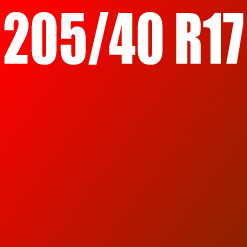 Pneu 205/40 R17