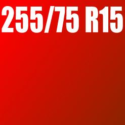 Pneu 255/75 R15