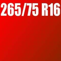 Pneu 265/75 R16