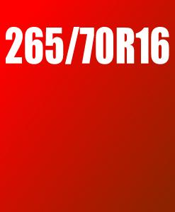 Pneu 265/70 R16