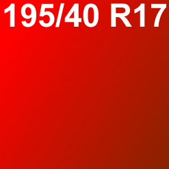 Pneu 195/40 R17